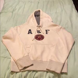 Abercrombie & Fitch Distressed Hooded Sweatshirt